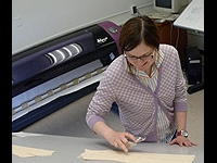 Student working on a pattern